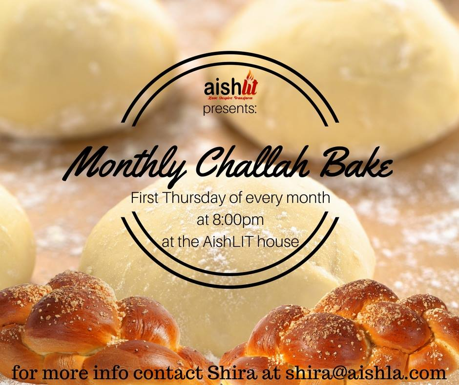November Challah Bake Flyer - AishLIT Website