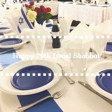 Happy 70th Israel Shabbat Gallery Cover - AishLIT Website