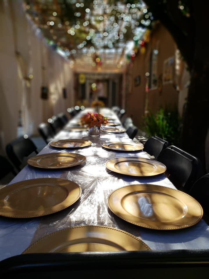 Sukkot at The Malul's, Sukkah and Table - AishLIT Website 6