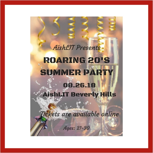 Roaring 20's Summer Party - AishLIT Website